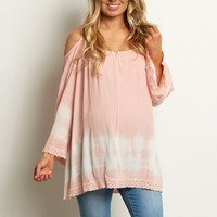 Pink-Tie-Dye-Cold-Shoulder-Top