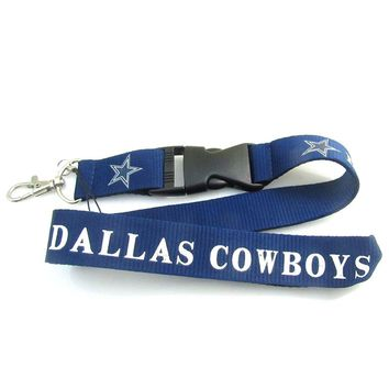 USA Football Sport Jewelry Dallas Cowboys Neck Rope Lanyard Phone Key Holder Sweater Chain Pendant Necklace 1PC