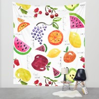 Fruit Salad Yummy Yummy Wall Tapestry by Noonday Design | Society6