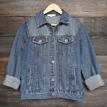 classic denim jean jacket - light + dark washes