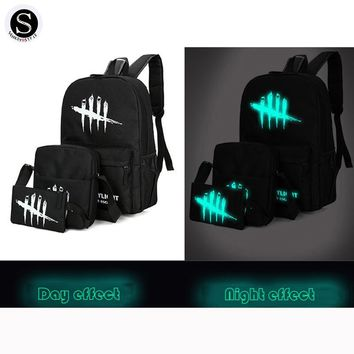 Senkey Style Cartoon Luminous Anime Women Backpack Famous Brands School Bags For Teenagers Student Canvas 2017 Backpack Men