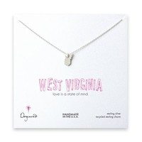 west virginia necklace, sterling silver
