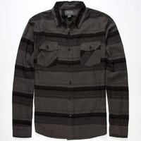 Valor Sovereign Mens Flannel Shirt Charcoal  In Sizes