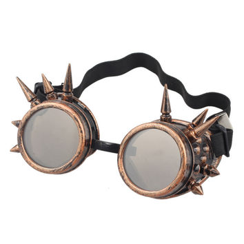 Durable  lunette de soleil  Rivet Steampunk  sunglasses women Windproof for oculos Mirror Vintage Gothic Glasses oculos luneta