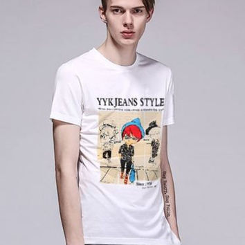 Cartoon Printed Short Sleeve T-Shirt
