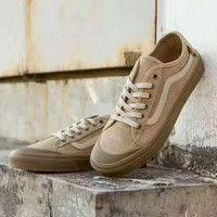 VANS BALL SF Canvas Flax skate shoes H-CSXY