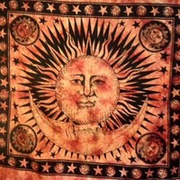 Sun and Moon Tapestry Fringe  - Mellow Mood