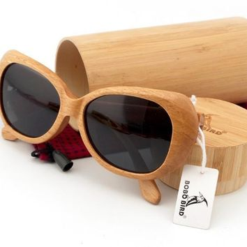 B05 Hot selling new brand arrival japan 100% natural wood bamboo handmade sunglasses sport driving sun glasses