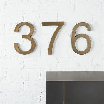 bronze house numbers