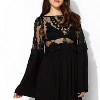 For Love & Lemons Isabella Bell-Sleeve Dress - Urban Outfitters