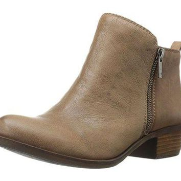 DCCKAB3 Lucky Brand Basel Brindle Goat Tide Leather Booties
