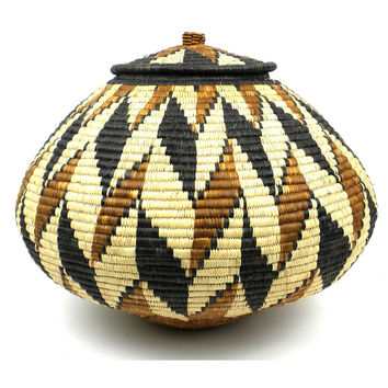 Handmade African Zulu Weave Wedding Basket