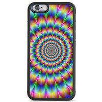 Psychedelic Trippy Utopia Of Hallucinogenic Optical iPhone 6 Case, Samsung Galaxy Rubber Case