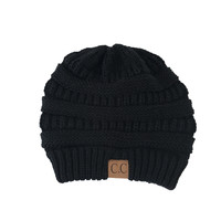 Comfort Me Knit Beanie in Black