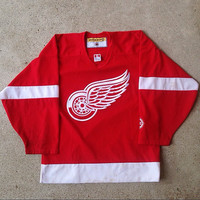 Koho Detroit Red Wings NHL Hockey Jersey Stitched hat snapback shirt sweater