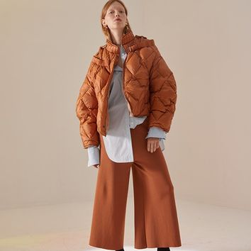 Cropped Puffy Coat