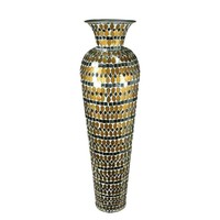 Aesthetically Enchanted Mosaic Vase, Gold By Benzara