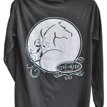 Zo Mare Horse LONG Sleeve T-shirt