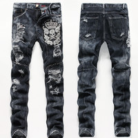 Stylish Men Men's Fashion Simple Design Summer Pants Jeans [6528554435]