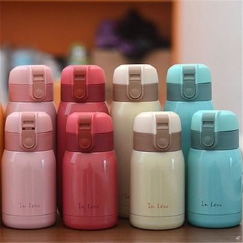 Hot Sale New Cute Mini thermos Stainless Steel Vacuum Cup light and portable kids water bottle Coffee Tea Mugs