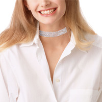 Sparkling Crystal Wide Band Choker