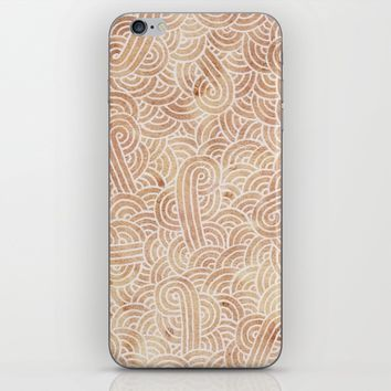 Iced coffee and white zentangles iPhone & iPod Skin by Savousepate