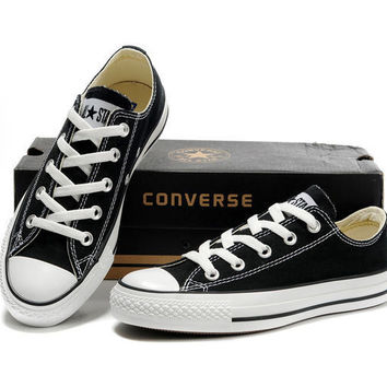 """Converse"" Fashion Canvas Flats Sneakers Sport Shoes Low tops Black"