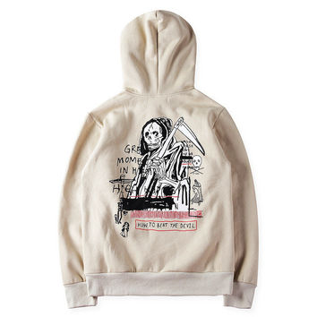 YEEZY Stylish Fashion Print Devil Hoodies [9535281223]