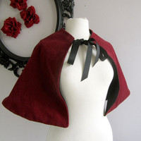 The Velveteen Capelet Red Cape for women