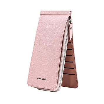 2017 New style envelope shape multi-card holder money bag multi-card holder big capacity clutch long female wallets simple purse