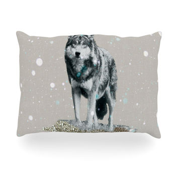 "Monika Strigel ""Wolf"" Oblong Pillow"
