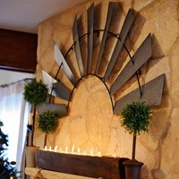 Antique Inspired Half Windmill Wall Decor - Cornell's Country Store