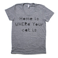 Home Is Where Your Cat Is T-Shirt