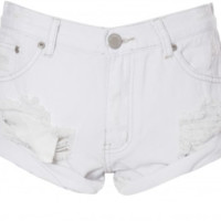 White Denim Cut-Off Shorts