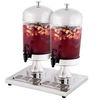Beverage Dispenser Single/Double Choice 2.1/4.2 Gallon Stainless Steel