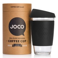 Joco Cups 16 oz. Reusable Glass Coffee Cup