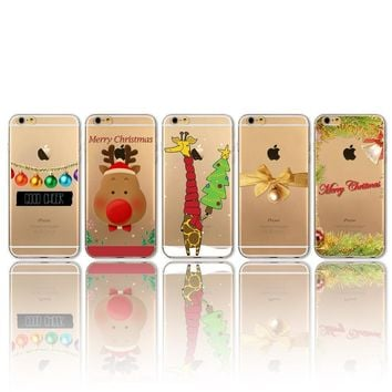 Christmas Cover For iPhone 4 4s 5 5s 5c SE 6 6s Plus 6Plus