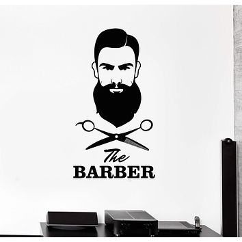 Vinyl Wall Decal Barber Shop Hair Salon Scissors Tools Stylist Stickers Mural Unique Gift (ig5024)