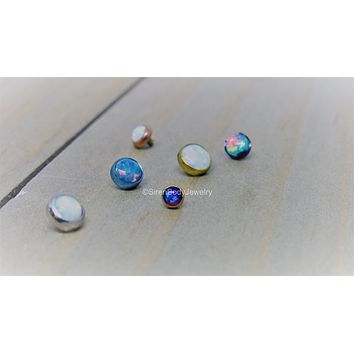 14g Opal dermal piercing top titanium anodized internally threaded part 4mm