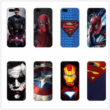 Deadpool Dead pool Taco Soft silicone Case Captain America iron Man  Design Phone Cover For iPhone 5 5s SE 6 6plus 7 7plus XR XS MAX  Capa Coque AT_70_6