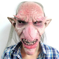 Hot Sale Men Latex Mask Goblins Big Nose Horror Mask Creepy Costume Party Cosplay Props Scary Mask for Halloween Terror