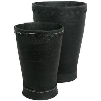 Recycled Tire Planter Pots from India Large & Small
