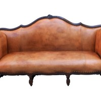 Ralph Lauren Leather Upholstered Sofa