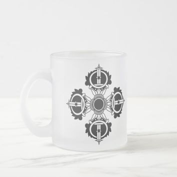 Buddhist Design Icon meditation series Frosted Glass Coffee Mug