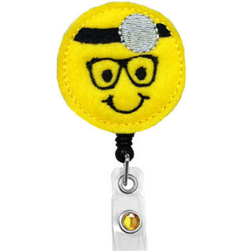 Smiley Facebook Doctor -Name Badge Holder -Surgical nurse badge holder-anesthesiologist Badge-Scrub nurse -Retractable