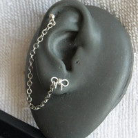 Silver Bow cartilage chain