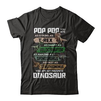 Pop Pop You're My Favorite Dinosaur T-Rex Fathers Day