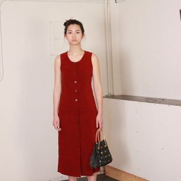 Button Through Market Dress / M