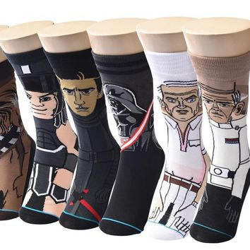 2018 Sale Hot Star Wars Autumn And Winter New Cartoon Funny Men Socks Stockings Planet Battle Vader High Quality New Socks