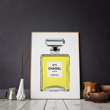 French Decor Perfume Print Vanity Decor CHANEL PRINT Fashion Art Paris Wall Art Perfume Poster Coco Chanel Perfume Print Coco Mademoiselle
